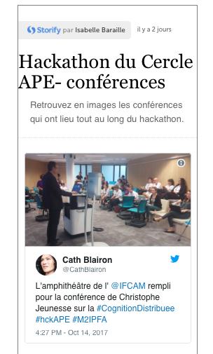 Les conférences du hackathon du CercleAPE